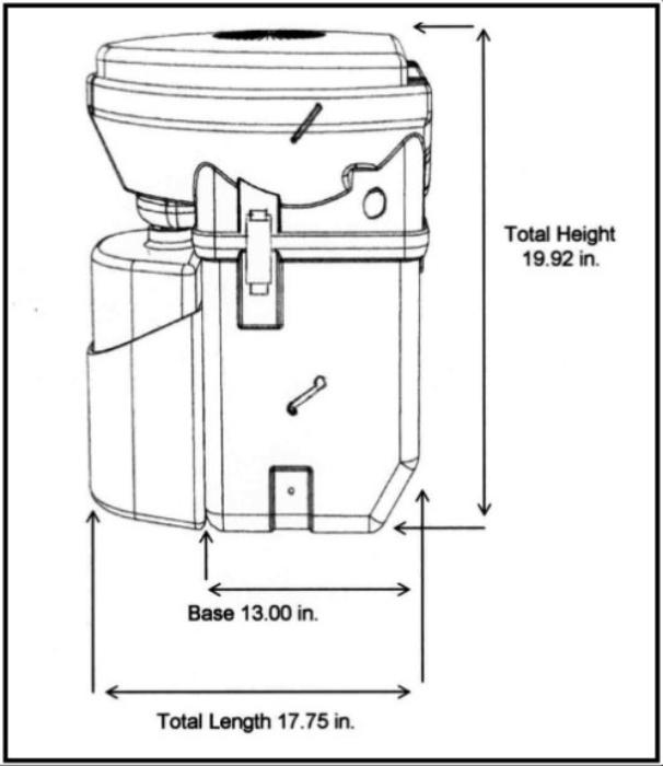 Diagram with Side View of Natures Head Compost Toilet