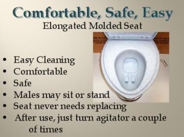 Full size, elongated molded seat