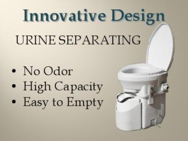 Innovative Design, Urine Separating produces No Odor
