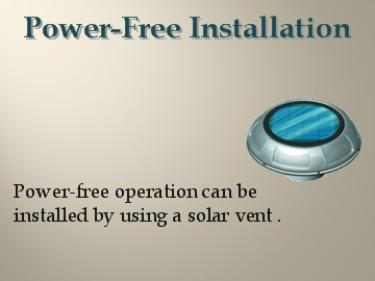 Power Free Operation via Solar Vent