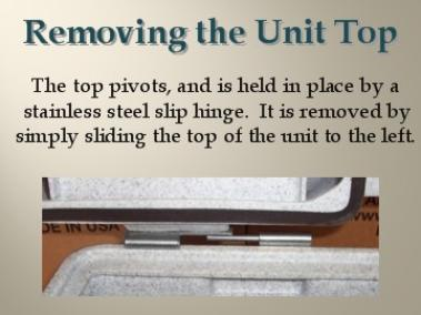 Removing the top unit is easy